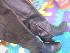 Matiko Brown Leather boots with Stitching Detail Size 7.5