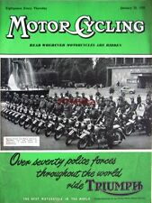 Jan 20 1955 Triumph Motor Cycle ADVERT Swedish Police - Magazine Cover Print