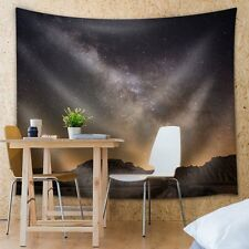 Wall26® - Landscape View of the Mountains and Night Sky - Fabric Tapestry- 68x80