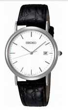 Seiko Watch Croc-Pattern  Leather Strap SKK693P1 Brand New