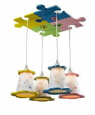 Childrens kids girls/ boys Chandelier Light Fixture Blue - Green - Yellow - Pink