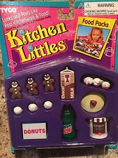 Kitchen Littles Tyco Food Packs Mountain Dew Dreyers Retired New on Card