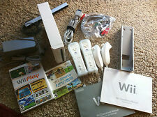 Wii System Console System 2 Player Ready+Wii Sports+Wii Play+HDTV Cable+More
