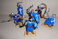 Reign of Jerusalem KNIGHTS on foot Argentina DSG Medieval toy Soldiers Britains