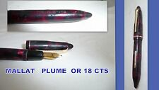 Collector STYLO plume OR 18 cts  MALLAT- PARIS 121
