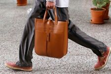 Paul Smith Brown Handcrafted Chestnut Leather Tote Bag Handbag NEW RRP £550