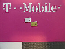 NEW T-MOBILE 4G NANO SIM Card iPhone 5/5S/5C/SE,6/6PLUS,7,S6,Nexus6