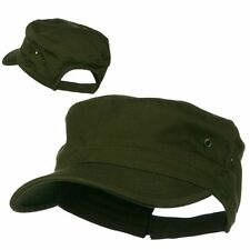 Olive Green Solid Blank Army GI Military Flat Cotton Cadet Castro Patrol Cap Hat