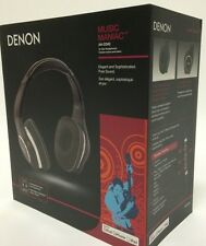 Denon AH-D340 Music Maniac On-Ear Headphones - Black