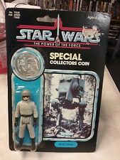 Vintage AT-ST Driver Star Wars Power of the Force w/ coin 92 back Moc
