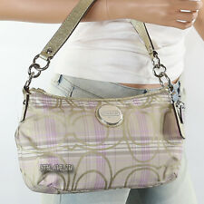 New Coach Signature Tartan Demi Shoulder Bag Crossbody F17210 Lilac New RARE