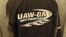 Vtg UAW GM Motorsports Jacket Racing sz Lrg USA Union Made United Auto Workers