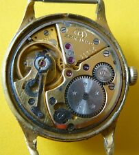 rare antique Volna Wostok precision USSR watch  gold plated