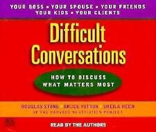 Difficult Conversations by Sheila Heen, Bruce Patton and Douglas Stone (1999,...