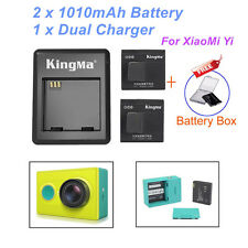 Original Kingma Dual Desktop Charger And 2 Kingma Batteries For Xiaomi Yi Camera