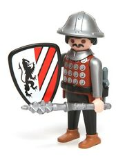Playmobil Figure Custom Castle Knight Helmet Dagger Spiked Mace Lion Shield 3667