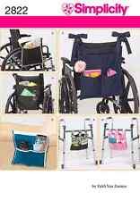 Simplicity Faith Van Zanten Sewing Pattern 2822 Wheelchair/Frame/Arm Chair Bags