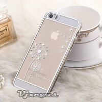 Luxury Clear Bumper Hard Back Case Bling Diamond Cover For Apple iPhone Models