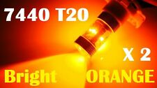 2 X 7440 T20 Super Bright Amber 30/W CREE LED Indicator Turn Signal Light Bulbs