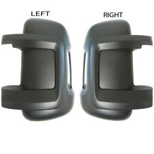 PEUGEOT BOXER 2006- 2013 LEFT&RIGHT SIDE WING MIRROR COVERS BLACK FOR SHORT ARM