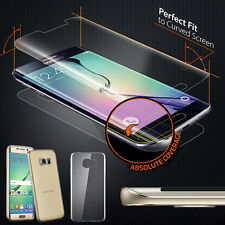 Full Cover Screen Protector & Curved Clear TPU Case For Samsung Galaxy S7 Edge
