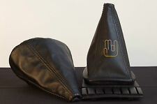 VW Golf MK2 and MK3 Leather Gearstick Gaiter with Laser Etched Shocker Logo
