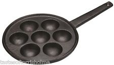 Kitchen Craft Cast Iron Danish Aebleskiver Round Ball Pancake Making Pan