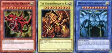 Legendary Collection Set of 3 Egyptian God Cards Slifer, Obelisk, Ra LC01 YuGiOh