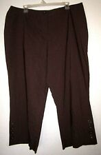 DRESSBARN WOMAN Brown Stretch Crop Slim Smooth Fit Tight Capri Pant Plus 18/1X