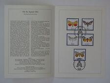 (92j14) Bund Erinnerungsblatt 1992 mit ESST Mi.Nr. 1602-1606 Jugend Nachtfalter