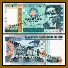 Peru 10000 Intis, 1988 P-140 Unc