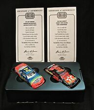 Matchbox Collectible 1:64 Scale- #24 Jeff Gordon Chevy- #28 Dale Jarret Ford-COA