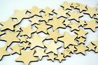 50x Mixed Wood Craft Shapes/ Stars / DIY Project / Beads / Supplies