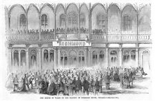 CHICAGO The Prince of Wales at Richmond House - Antique Print 1860