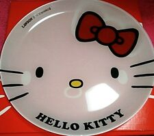 Hello kitty 40th anniversary Lawson Sanrio Party Glass Plate Kawaii dish !!