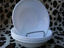 4 Corelle Dishes Winter Frost White Small Berry Dessert Bowls Set Of 4