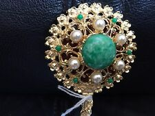 Beautiful Small Antique Jewelled Purse Compact Mirror