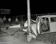 1950s Accident Chrysler head on into a light pole  8 x 10 Photograph