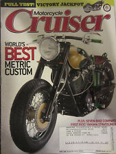 Motorcycle Cruiser Magazine April 2006 Worlds best Metric Custom Seven Bike Comp
