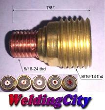 "WeldingCity 5-pk Gas Lens Collet Body 45V43 (1/16"") TIG Welding Torch 9/20/25"