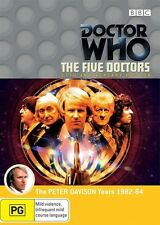 New Sealed DOCTOR WHO THE FIVE DOCTORS 2 Dvd set R4 20th Anniversary 5