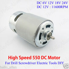 DC 6V-24V 12V High Speed Power RS-550 Drill Electric Tools Screwdriver DC Motor