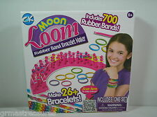 Moon Loom Rubber Band Bracelet Jewelry Maker Craft Kit Makes 26+ Bracelets NEW