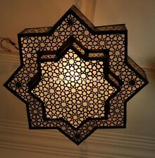 Moroccan Handcrafted Brass Ceiling Light Fixture Hanging Lamp Chandelier