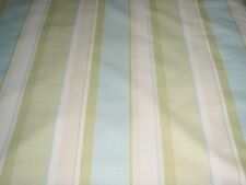 LAURA ASHLEY EATON STRIPE APPLE/TOPAZ FABRIC COTTON / LINEN 2.7 METRES
