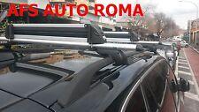 BARRE PORTATUTTO ALLUMINIO BMW X5 CON RAILS APERTI+PORTASCI 4 PAIA O/ 2 SNOW
