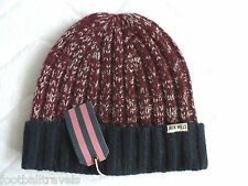 JACK WILLS KNITTED DAMSON FLECK WOOL KELSDALE BEANIE BRITISH UNISEX Rugby TAGS