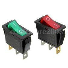 On/Off Large Rectangle Rocker Switch LED Lighted Car Dash Boat 3-Pin SPST 12V