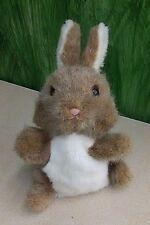 "VTG Dakin Bunny Rabbit Hand Puppet 12"" 1984 Grey Cute Lovey"