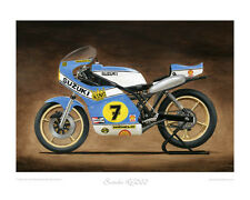 "Suzuki RG500 XR14 - Limited Edition (of 50) Art Print 20""x16"" by Steve Dunn"